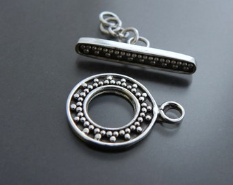 Sterling Silver Toggle Clasp Jewelry Supply