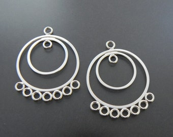 Sterling Silver Round Chandelier Earring Finding Sterling Silver Jewelry Supply