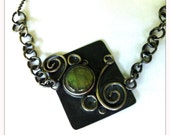 never ending circles necklace... labradorite and sterling silver necklace