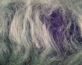 Spinning fiber batts- purples and blues