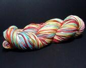 fingering yarn sock - fruit stripe