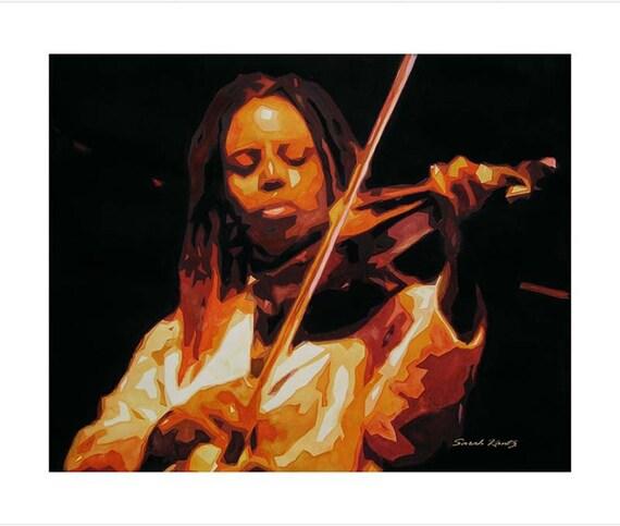Regina Carter, Jazz Musician, Violin, GICLEE PRINT