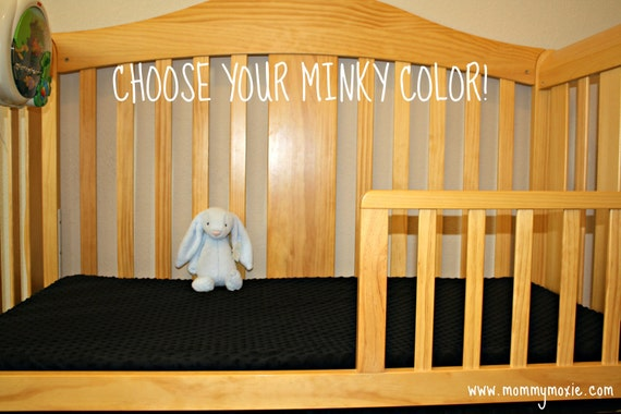 CUSTOM Minky Crib Sheet for Baby or Toddler - You Choose The Color by Mommy Moxie on Etsy