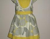 Gray/ Mustard Yellow Jessica Dress with Lace
