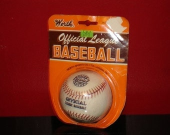 vintage Worth Official League Baseball in original unopended package