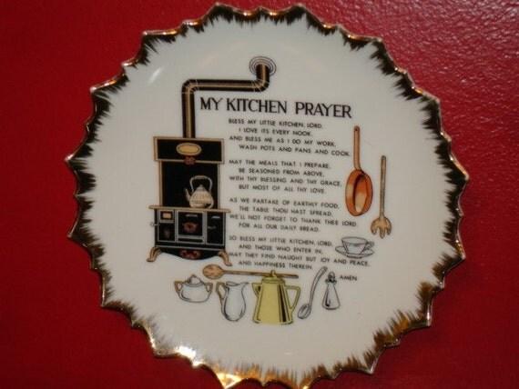 Vintage Lego Made In Japan Porcelain Kitchen Prayer Decorative