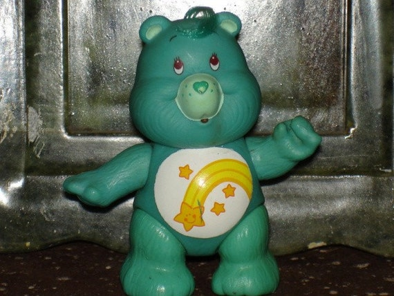 vintage 1980s American Greetings poseable Care Bear Wish bear