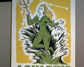 Aquarius Comic Book Zodiac Poster