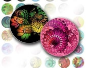 Digital collage 1 inch circles bottle cap digital art images jewelry making paper supplies Colorful abstract swirls (035) BUY 3 GET 1 FREE
