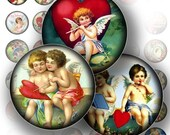 Valentine digital collage sheets bottle cap images 1 inch circle digital art Victorian jewelry making paper supplies (130) BUY 3 GET 1 FREE