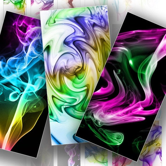 colorful rainbow smoke on black and white by graphicland