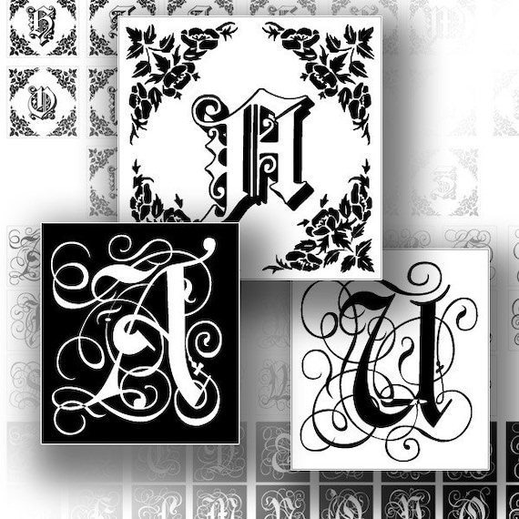 Digital alphabet letters collage sheet 1 inch graphics download art scrabble tile image jewelry making paper supplies (126) BUY 3 GET 1 FREE