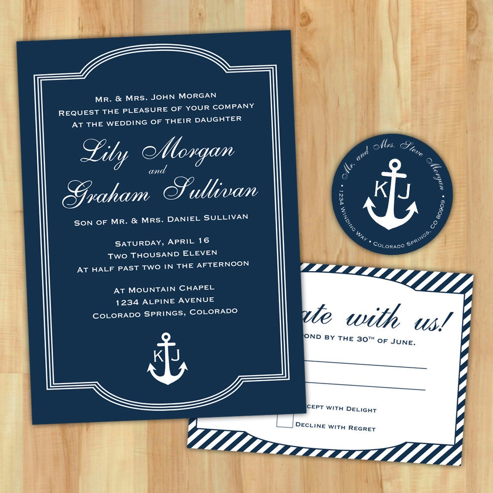 diy nautical wedding invitation suite custom printable, Wedding invitations