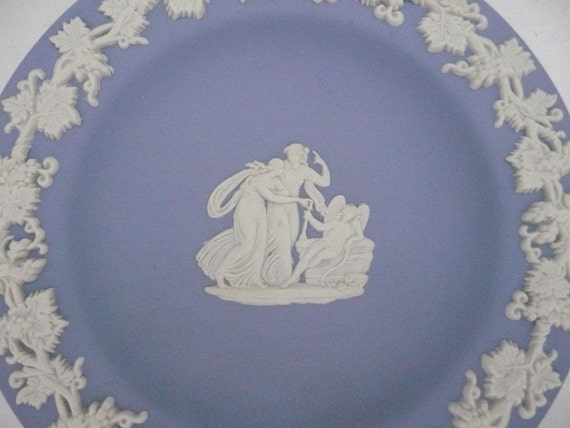 Vintage Blue & White Wedgewood Jasperware Collectible Plate