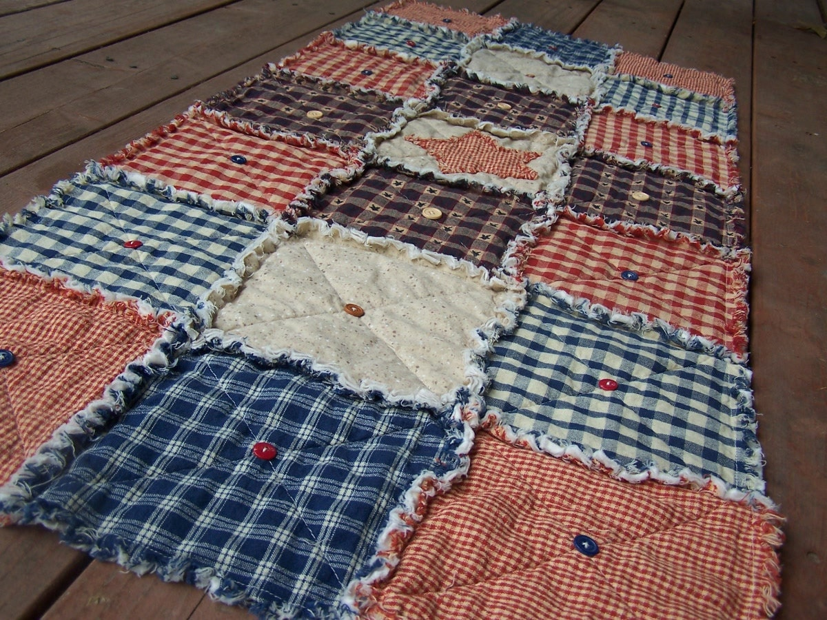 Americana Rag Quilted Table Runner Pinterest 564x423 · Frontier ...
