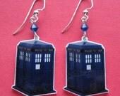 Doctor Who TARDIS police box earrings
