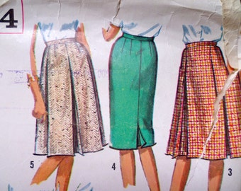 popular items for kick pleat skirt on etsy