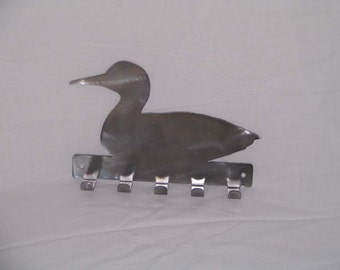 Loon duck key leash scarf rack holder