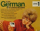 Think German 1968 Language Cards and Records Level 1