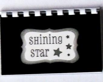 "SALE ITEM Price is marked handmade ""Shining Star"" Blank Recipe Book"