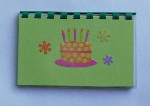 SALE ITEM Price is marked Handmade Birthday Cake Blank Recipe Book