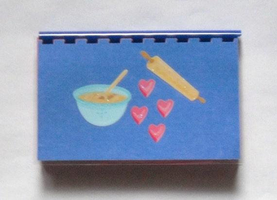 "SALE ITEM Price is marked/ Handmade ""Blue Bowl"" Blank Recipe book"