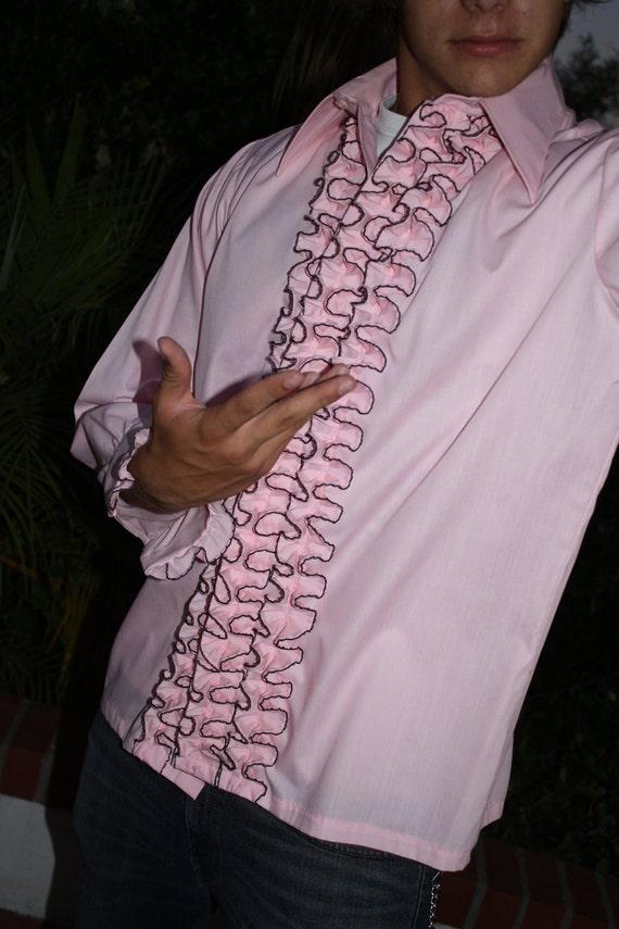 The MOST amazing vintage mens ruffled Tuxedo Shirt