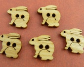 Honey Bunny Wood Buttons