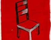Chair with red background