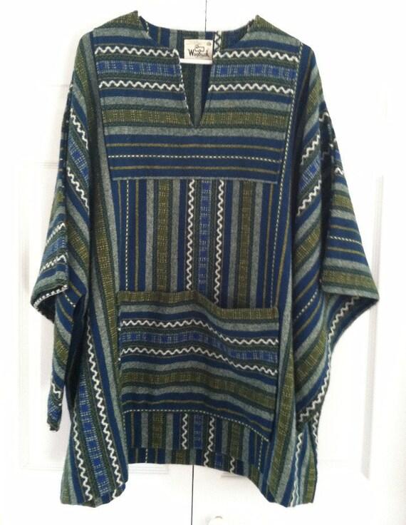 reduced vintage WOOLRICH woven HIPPIE pullover Shirt JACKET woodstock era