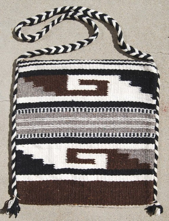 Mexican Woven Wool Carry Bag Vintage