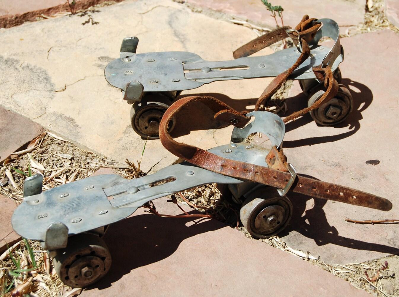 Vintage Roller Skates Metal Union Hardwareadult No 5