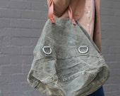 Repurposed WWII German Military Tote Bag - Special Listing for Adrienne Fletcher