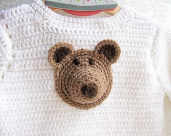 Crochet Sweater, Crochet Bear Sweater, Crochet Sweater for Kids