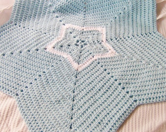 Crochet Baby Blanket, Star Blanket, Crochet Star, Newborn Photo Prop - You Choose Color