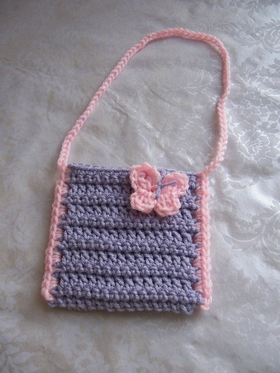 Crochet Girls Purse, Toddler Purse, Crochet Purse with Strap ...