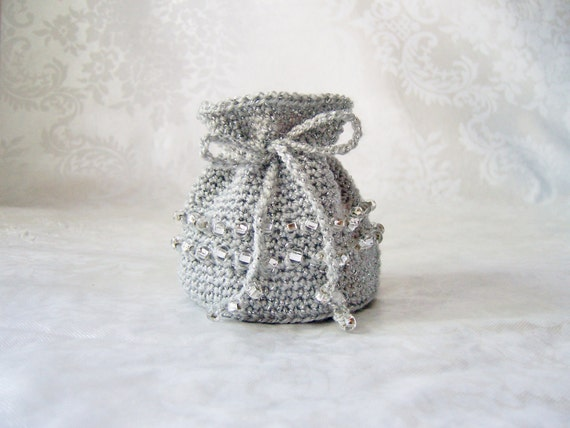 Crochet Coin Purse Crochet Jewelry Pouch Crochet Sack with