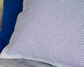 Labyrinth linen pillow cover blue