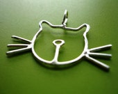Sterling Silver Cat Necklace w/ Silver Chain