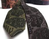 Polynesian Tattoo Fish Necktie - Screen Printed Microfiber Tie