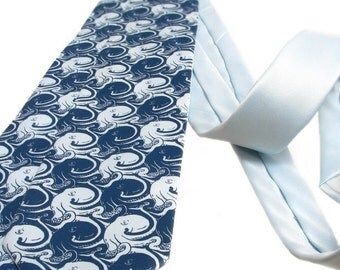 Cool Tie - Octopus Necktie - Sea of Cephalopods - Men's Gift - Tessellated Pattern