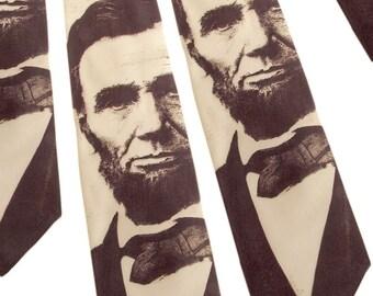 Abraham Lincoln Necktie - Sepia Tie