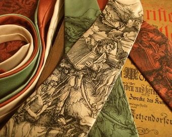 Men's Necktie - Atonal Apocalypse Necktie - Artistic Microfiber Tie - Bagpipes