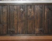Medieval rustic custom cabinets -- face frames and doors only - kitchen budget remodel