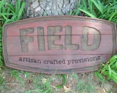 Custom Painted carved wood sign - personalized for home, wedding, anniversary or business - reclaimed  western cedar