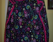 Fleece blanket with hand crocheted edging