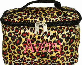 Personalized Cosmetic Case , Bag Leopard Print