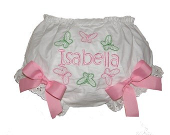 Butterflies Baby Girl  Bloomers, Diaper Cover, Panties Free Shipping