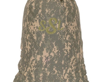 Personalized Dorm College Camp Laundry Bag Digital Army Camouflage Print
