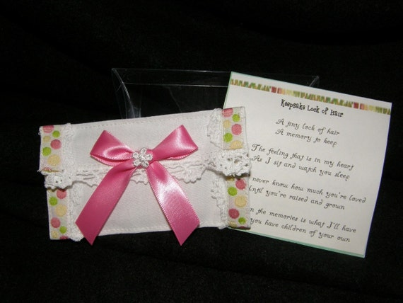 Keepsake Lock Of Baby S Hair Handcrafted Linen Envelope